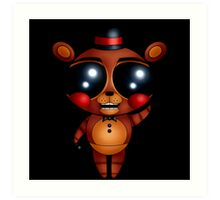 FNaF 2 - Chibi Toy Freddy Fazbear (Variant Version) Art Print