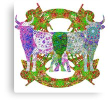 Bull With Mechanical Nose Canvas Print