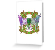 Bull With Mechanical Nose Greeting Card