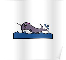 Baby Girl Narwhal Poster