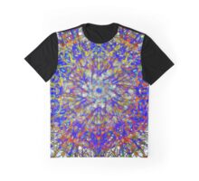 Glowing Action Painting In Red And Blue Graphic T-Shirt