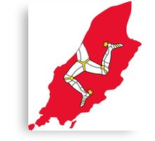 Flag Map of Isle of Man Canvas Print