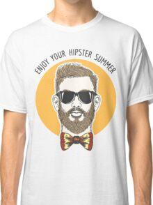 Hipster Summer Emblem Classic T-Shirt