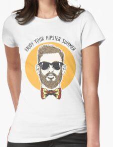 Hipster Summer Emblem Womens Fitted T-Shirt