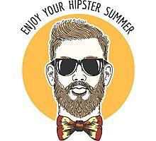 Hipster Summer Emblem Photographic Print