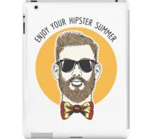 Hipster Summer Emblem iPad Case/Skin