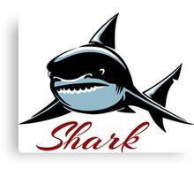 Shark Emblem Canvas Print