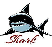 Shark Emblem Photographic Print