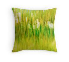 Daisy Grass Throw Pillow