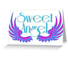 Sweet Angel with Wings Greeting Card