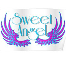 Sweet Angel with Wings Poster