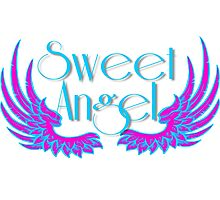Sweet Angel with Wings Photographic Print