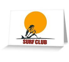 Surf club emblem Greeting Card