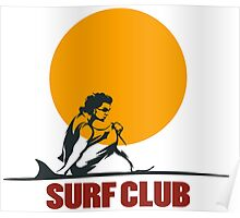 Surf club emblem Poster