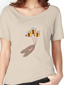 Sloth and Bumble Bees Women's Relaxed Fit T-Shirt