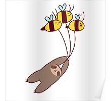 Sloth and Bumble Bees Poster