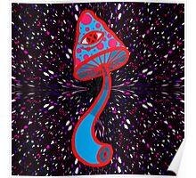 Red&Blue Shroom Poster