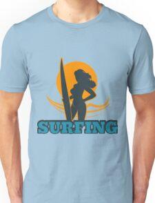 Surfing Colorful Emblem Unisex T-Shirt