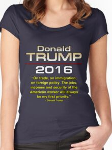 TRUMP 1ST PRIORITY Women's Fitted Scoop T-Shirt