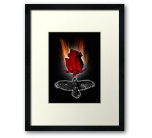 crow rose Framed Print