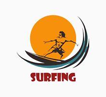 Surfing man emblem Unisex T-Shirt