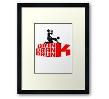 Drink Drank Drunk Saufen Sex Crew Team Framed Print