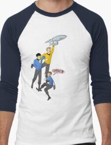 Boldly Go - Star Trek Triumvirate Men's Baseball ¾ T-Shirt
