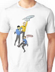 Boldly Go - Star Trek Triumvirate Unisex T-Shirt