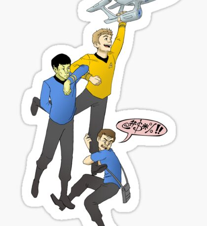Boldly Go - Star Trek Triumvirate Sticker