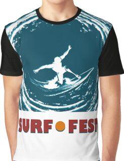Surf Fest Emblem Graphic T-Shirt