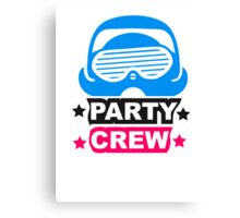 Cool Party Team Crew Member Penguin Canvas Print