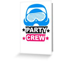 Cool Party Team Crew Member Penguin Greeting Card