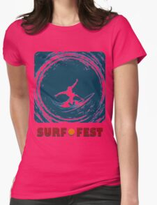Surf Fest Emblem Womens Fitted T-Shirt