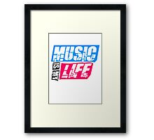 Cool Music is my life Design Framed Print