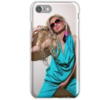 Sexy blond girl in fashion shoot iPhone Case/Skin