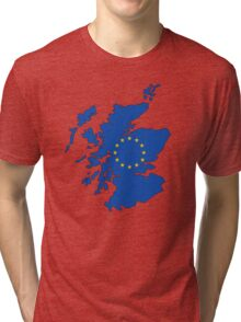 Scotland Map EU Tri-blend T-Shirt