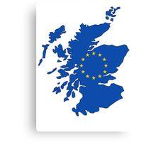 Scotland Map EU Canvas Print