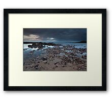 stonehaven beach sunset Framed Print