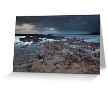 stonehaven beach sunset Greeting Card