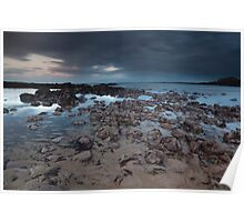 stonehaven beach sunset Poster