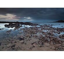 stonehaven beach sunset Photographic Print