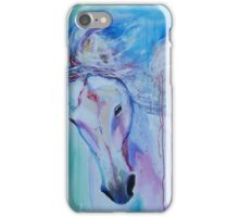Running in shades of pink and blue iPhone Case/Skin