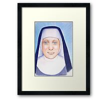 Blue Nun Framed Print