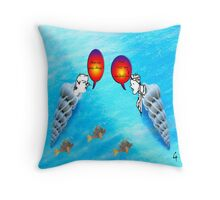 Mary Bobbins & John Shellins - tote bag Throw Pillow
