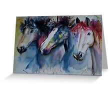 Caballos Greeting Card