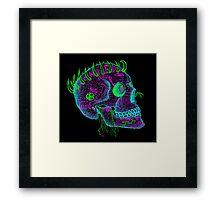 anti-love and peace skull Framed Print
