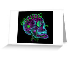 anti-love and peace skull Greeting Card