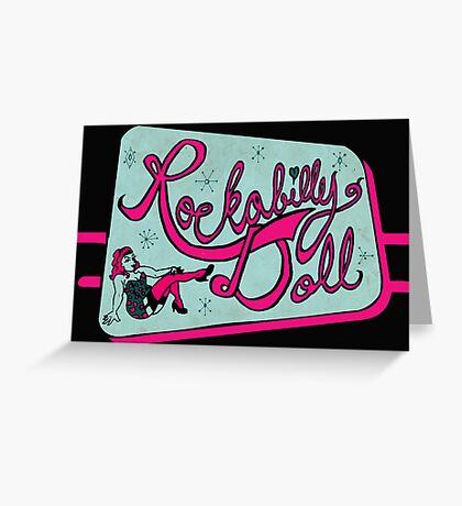 Rockabilly Doll Greeting Card