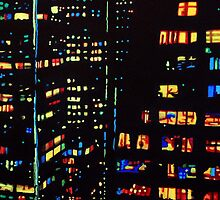 City Windows of Chicago by JMCSharpieArt