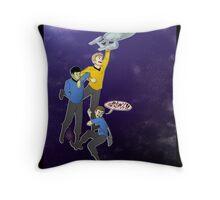 Boldly Go - Star Trek Triumvirate Throw Pillow